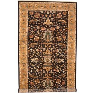 Herat Oriental Indo Hand-knotted Heriz Wool Runner (8'9 x 17'6)