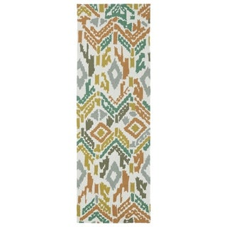 Seaside Multi Ikat Indoor/Outdoor Rug (2'6 x 8')