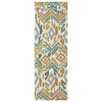 Seaside Multi Ikat Indoor/Outdoor Rug - 2'6 x 8'