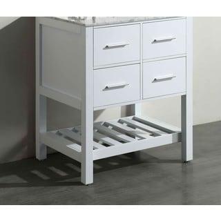 Bosconi White 29-inch Main Vanity cabinet