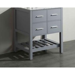 Bosconi Grey 29-inch Vanity Cabinet
