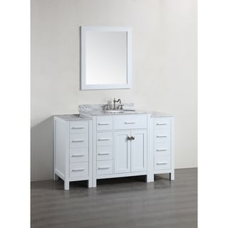 Bosconi SB-R2104WH2S White 56-inch Single Vanity