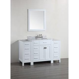 Bosconi SB-R2104WH2S White 56-inch Single Vanity