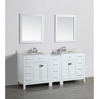 Bosconi White 74-inch Double Vanity