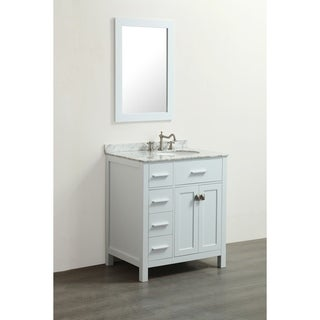 Bosconi SB-R2104WH White 30-inch Single Vanity