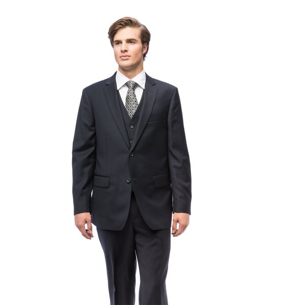 Men's Navy Blue Wool Suit