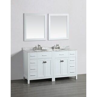 Bosconi SB-2LR2104WH 61-inch Double Vanity