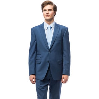 Men's Indigo Blue Slim Fit Peak Lapel Suit