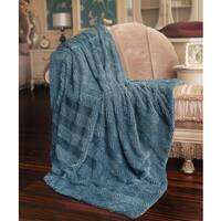 "Boon Herringbone FauxFur Sherpa Backing Brushed Throw - 60"" x 80"""