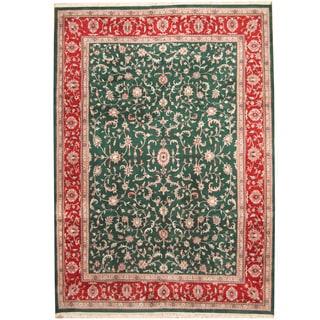 Herat Oriental Indo Hand-knotted Kashan Wool Rug (10' x 14')