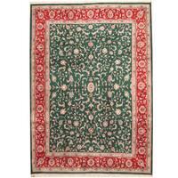 Herat Oriental Indo Hand-knotted Kashan Wool Rug (10' x 14') - 10' x 14'
