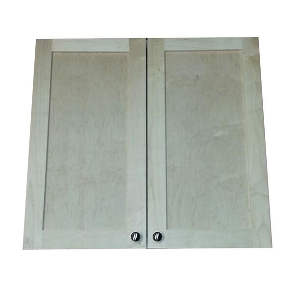 Shop Freeport 28 Inch High Recessed Double Door Medicine Cabinet