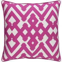 Decorative Esme 18-inch Feather Down or Poly Filled Throw Pillow