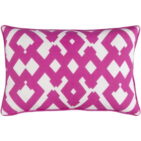 Decorative Esme Feather Down or Poly Filled Throw Pillow (13 x 20)