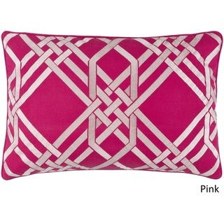 Decorative Eilat Down or Poly Filled Throw Pillow (13 x 20)