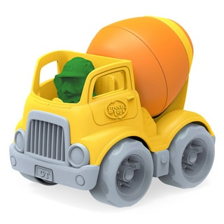 Green Toys Yellow and Orange Plastic Mixer Construction Truck