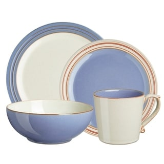Denby Heritage Fountain 4-Piece Place Setting  sc 1 st  Overstock.com & Denby Heritage Terrace 4-piece Place Setting - Free Shipping Today ...