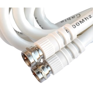 Black Point Products Inc BV-081-WHITE 3' RG6 White High Definition Coaxial Cable
