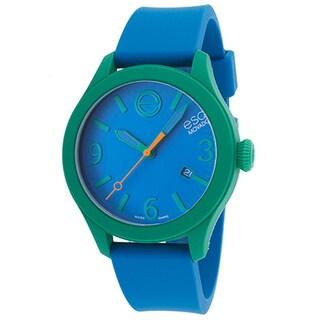 ESQ Movado ESQ One Blue Silicone Dial Green Case Watch