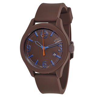 Movado ESQ One Brown Silicone Dial and Case Watch