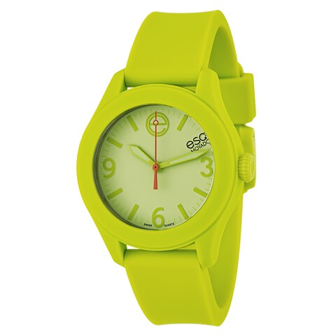 ESQ Movado ESQ One Chartreuse Silicone Light Green Dial Watch