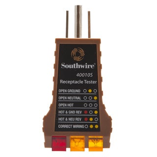 Southwire 58292540 Receptacle Tester