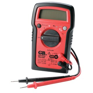 GB LCD Digital Multimeter 500 VAC, 600 VDC Black/Red