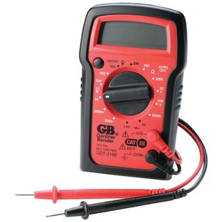 GB Digital Digital Multimeter 500 VAC, 600 VDC 2 meg Ohm, Red/Black