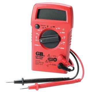 GB Digital Multimeter 2 meg Ohm, 500 VAC, 600 VDC Black/Red