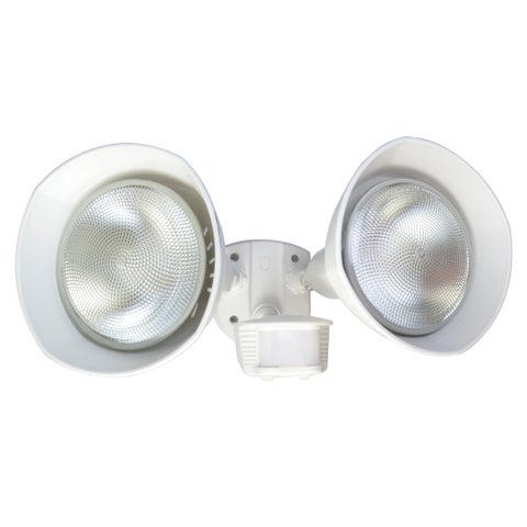 Designers Edge L6002WH White Twin Head Flood Light