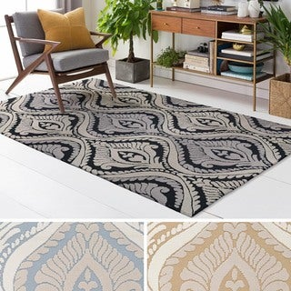 Meticulously Woven Fiore Polyester Rug (7'6 x 9'6)