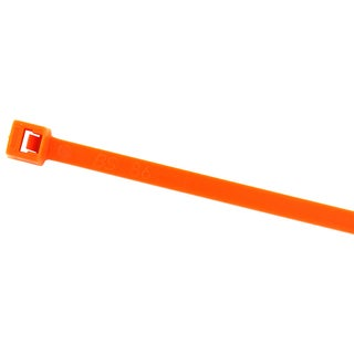 """Black Point Products Inc BE-0108O ORANGE 7.5"""" Orange Cable Ties 100-count"""
