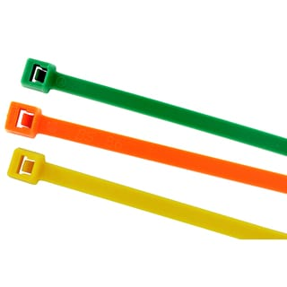 Black Point Products Inc BE-0108C COLORS 7.5 Cable Ties Assorted Colors 100-count