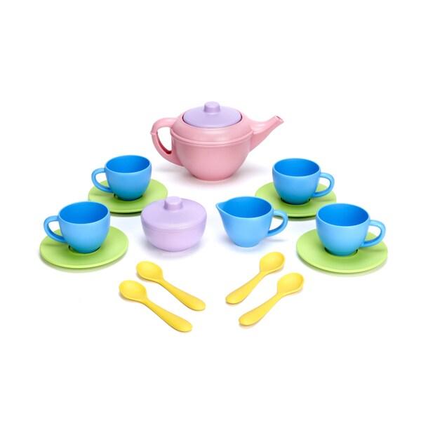 Green Toys Children's 17-piece Tea Set