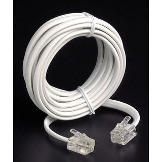 Leviton 836-C2413-25W White 25' Phone Line Cord
