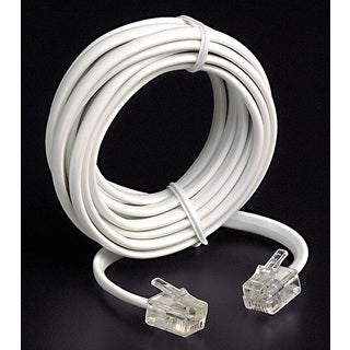 Leviton 834-C2413-7W 7' White Phone Line Cord