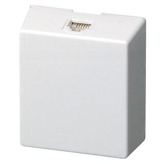 Leviton 832-C2452-W Single Gang White Surface Mount Phone Wallplate