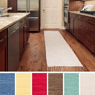 Flat Woven Mya Cotton Rug (2'3 x 10')