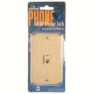 Leviton 831-C0253-I Single Gang Ivory Wall Phone Jack
