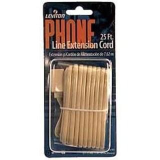 Leviton 831-C2406-25I 25' Ivory Phone Line Extension Cord