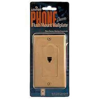 Leviton 800-C2452-00I Single Gang Ivory Surface Mount Phone Wallplate