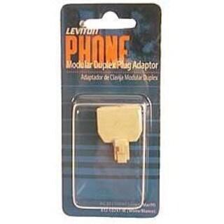 Leviton 800-C0247-00I Ivory Modular Duplex Phone Plug Adapter