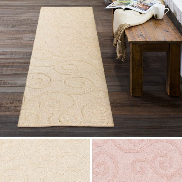 Hand Tufted Peace Wool Rug (2' x 8')