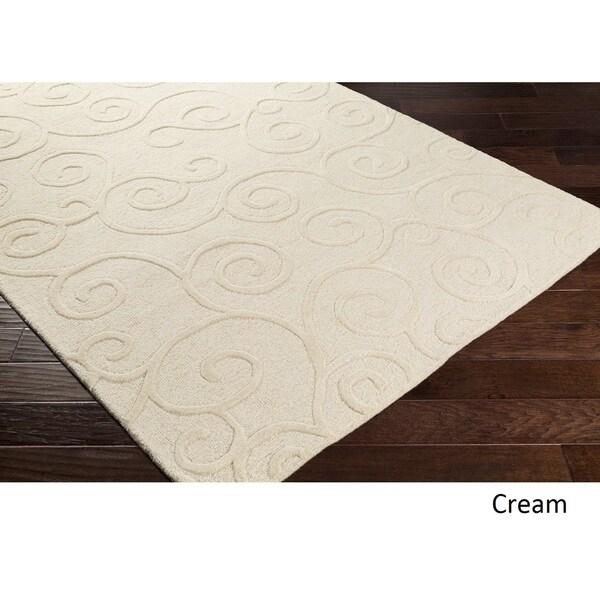 Hand Tufted Peace Wool Rug - 4' x 6'