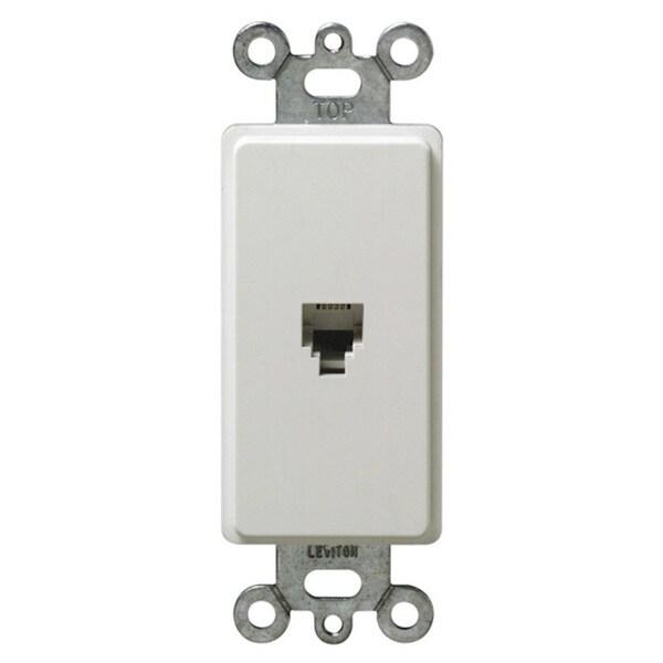 Leviton Single Gang White Decora Phone Jack - Free Shipping On ...
