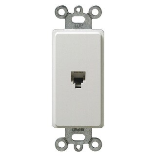 Leviton Single Gang White Decora Phone Jack