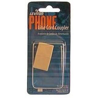 Leviton 800-C0250-00I Ivory Phone Line Cord Coupler