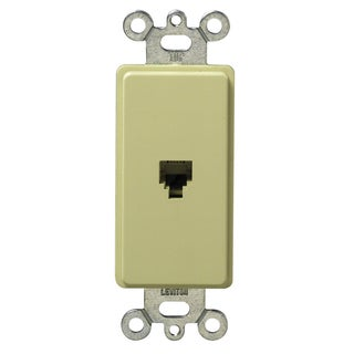 Leviton 020-40649-00I Ivory Plastic Decorative Phone Jack