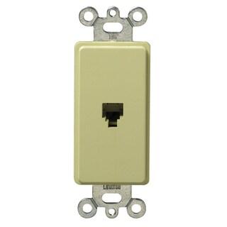 Leviton 020-40649-00I Ivory Plastic Decorative Phone Jack