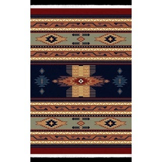 Manhattan Phoenix Navy Area Rug (6'6 x 9'10)